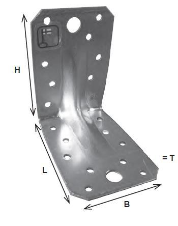 Kulmarauta 40x40x25, kuumasinkitty - 40 X 40 X 25mm, paksuus 2mm