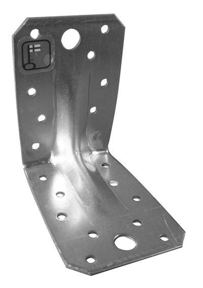 Vahvistettu kulmarauta, 60x75x60 2,0V - 60 X 75 X 60mm, paksuus 2mm