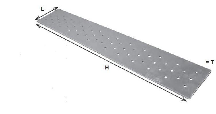 Naulauslevy - kuumasinkitty teräs - 40x120x2,0 mm