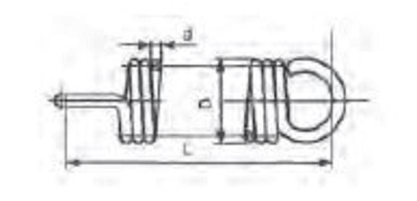 Vetojousi 1 mm x 7 mm x 90 mm 10/kpl - Vetojousi 1 mm x 7 mm x 90 mm