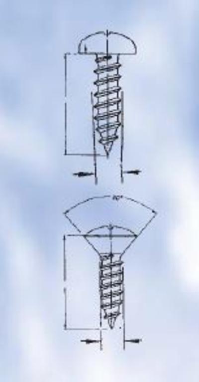 Levyruuvilajitelma DIN 7981/7983, sinkitty - Förch - Levyruuvilajitelma DIN 7981/7983, sinkitty