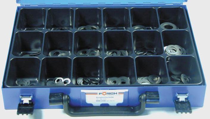 Sovitelaattalajitelma, Ø 22-32 mm (270 kpl), Förch - Sovitelaattalajitelma Ø 22-32 mm