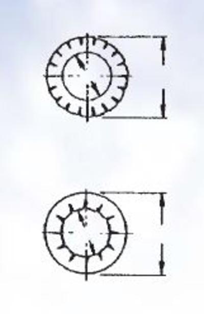 Tähtilaattalajitelma DIN 6798 IZ/AZ, sinkitty, Förch - Tähtilaattalajitelma DIN 6798 IZ/AZ, sinkitty
