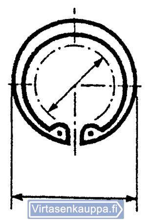 Lukkorengaslajitelma, sisäpuoliset lukkorenkaat DIN472 - Förch - Lukkorengaslajitelma, sisäpuoliset lukkorenkaat