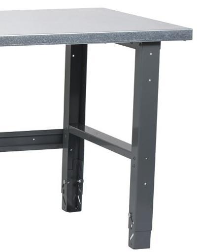 Raskas työpöytä terästasolla (2000 x 800 mm) - Raskas työpöytä (2000 x 800 mm)