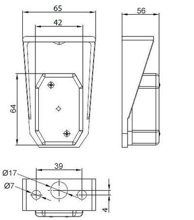 Etuäärivalo muovialustalla, Flexipoint, Aspöck - Etuäärivalo, kirkas, Flexipoint