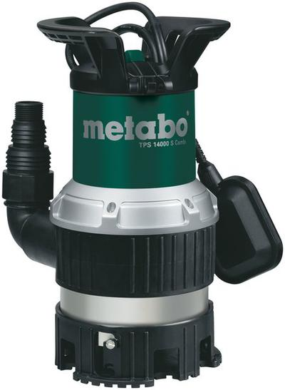 Uppopumppu puhtaalle ja likaiselle vedelle, 770 W, Metabo - Metabo TPS 14000 S Combi uppopumppu