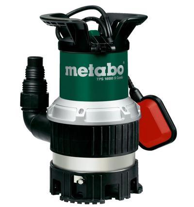 Uppopumppu puhtaalle ja likaiselle vedelle, 970 W, Metabo - Uppopumppu  Metabo TPS 16000 S Combi