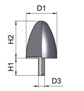 Kartiopuskin - 25 x 16 x 18, M6