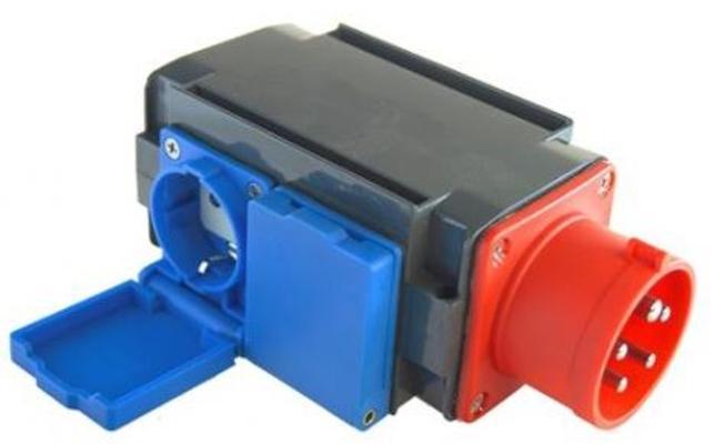 Voimavirta-adapteri 16 A 400 V / 3 kpl - Voimavirta-adapteri 16 A 400 V / 3 kpl