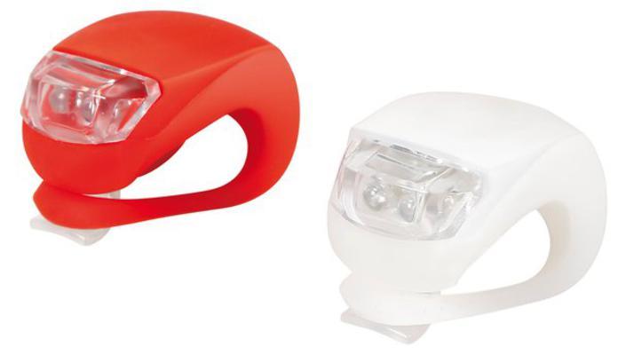 Led-valo polkupyörään, etu + taka - Led-valosarja polkupyörään