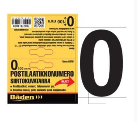 Postilaatikkonumero/kirjain - Postilaatikon numero 0