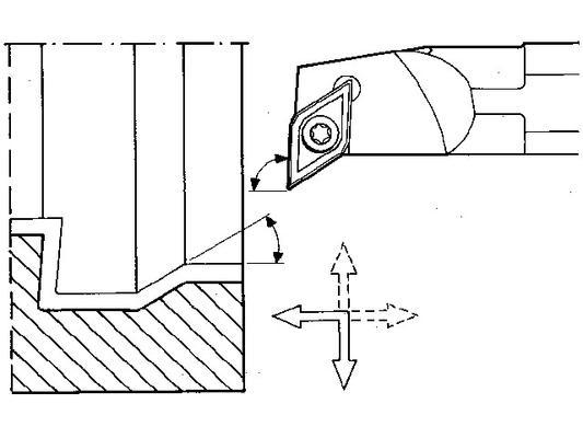 Teränpidin 93°, sisäteränpidin - Seco A16Q-SDUCR-07 - Teränpidin 93°, sisäteränpidin - 180 mm