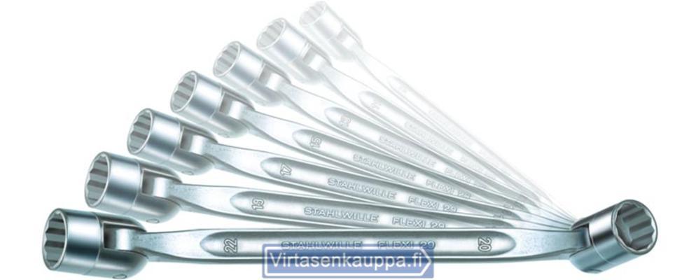 Nivelhylsyavainsarja Flexi 8x9-20x22 mm, Stahlwille 29/7 - Nivelhylsyavainsarja Flexi 8x9-20x22 mm