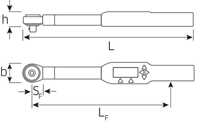 Elektroninen momenttiavain Sensotork 712R (3-60 Nm), Stahlwille - Elektroninen momenttiavain Sensotork®