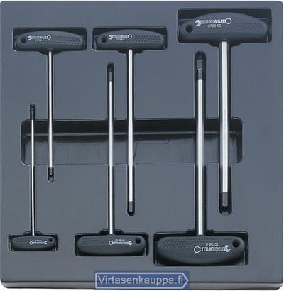 Ruuvitalttasarja, T-kahva, 3-10 mm (moduulissa), Stahlwille - Ruuvitalttasarja, T-kahva. 3-10 mm (moduulissa)