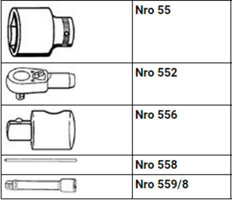"""Hylsyavainsarja 3/4"""" moduulissa, Stahlwille ES 55/6/4 - Hylsyavainsarja 3/4"""