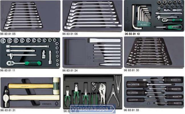 Työkaluvalikoima (moduuleissa), Stahlwille - Työkaluvalikoima (moduuleissa)