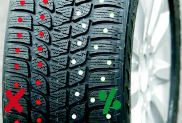 Jäänasta kengät / mopo 9,8 x 7,9 mm, BestGrip - Jäänasta 40 kpl / pkt, mukana asennusavain