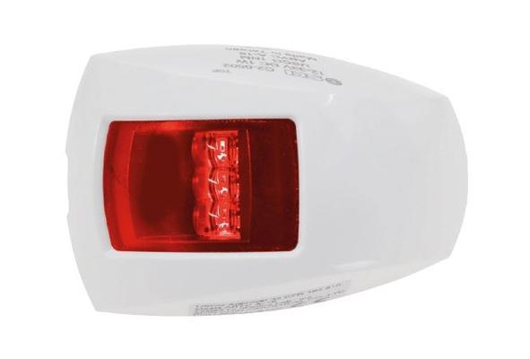 Veneen sivuvalo, punainen, SCI - LED-valo valkoisella kotelolla