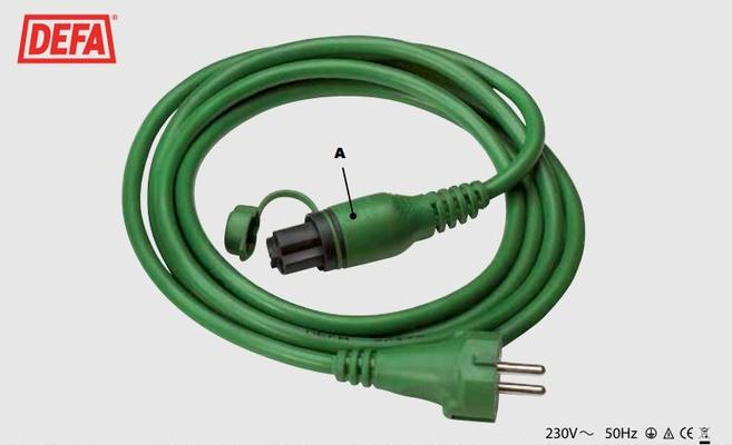 Lämmitysjohto 2,5 m MiniPlug - Defa - Verkkojohto 2,5 m