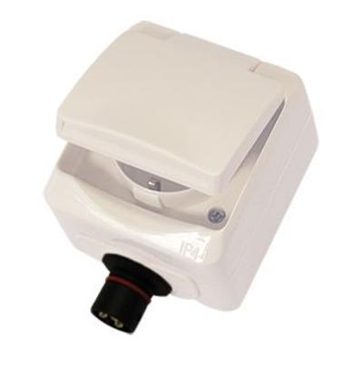 Pinta-asennettava pistorasia kannella 230 VAC / 16 A, Defa - Pinta-asennettava pistorasia kannella 230 VAC / 16 A