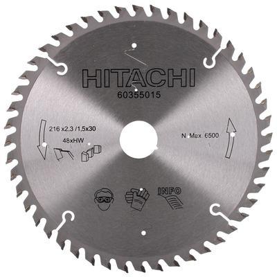 Pyörösahanterä TCT 216 x 2,3 x 30 mm Z48, Hitachi - Pyörösahanterä TCT 216 x 2,3 x 30 mm Z48