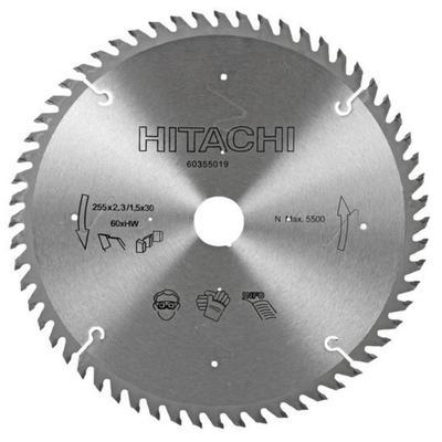 Pyörösahanterä TCT 255 x 2,3 x 30 mm Z60, Hitachi - Pyörösahanterä TCT 255 x 2,3 x 30 mm Z60