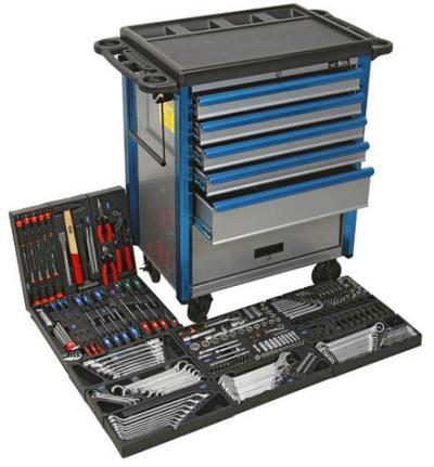 Työkaluvaunu + työkalut (255-osaa) - Työkaluvaunu + työkalut
