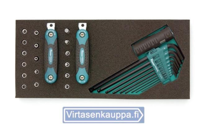 "Kuusiokolo- & Torx-hylsysarja, avaimet ja 1/4""-hylsyt - Kuusiokolo- & Torx-hylsysarja"