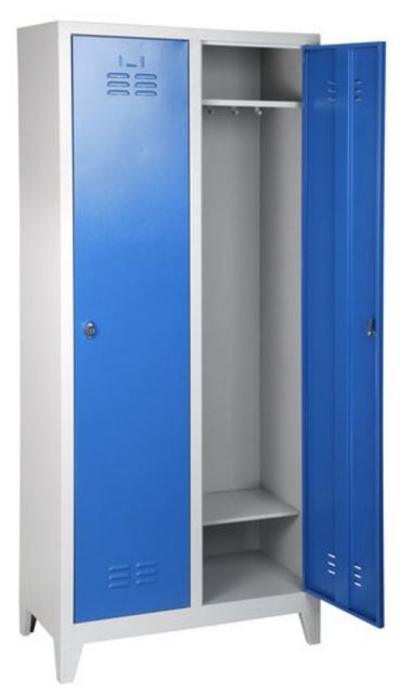 2-ovinen työvaatekaappi (1850 x 790 x 400 mm) - 2-ovinen työvaatekaappi, 1850 x 790 x 400 mm