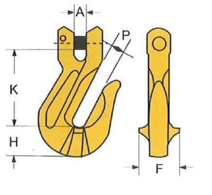 Lyhennyskoukku HL 7/8-8 mm, 2,0 t - Lyhennyskoukku HL 7/8-8 mm, 2,0 t