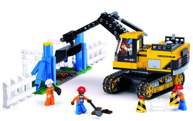 Koottava kaivinkone ja 4 työmiestä, Sluban - Koottava kaivinkone ja 4 työmiestä