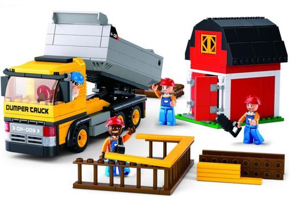 Koottava kippiauto ja 4 työmiestä, Sluban - Koottava kippiauto ja 4 työmiestä