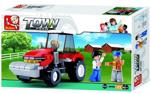 Koottava traktori ja kaksi hahmoa, Sluban - Koottava traktori ja kaksi hahmoa