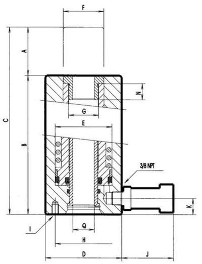 Hydraulisylinteri 20 t, Mega - Hydraulisylinteri 20 t