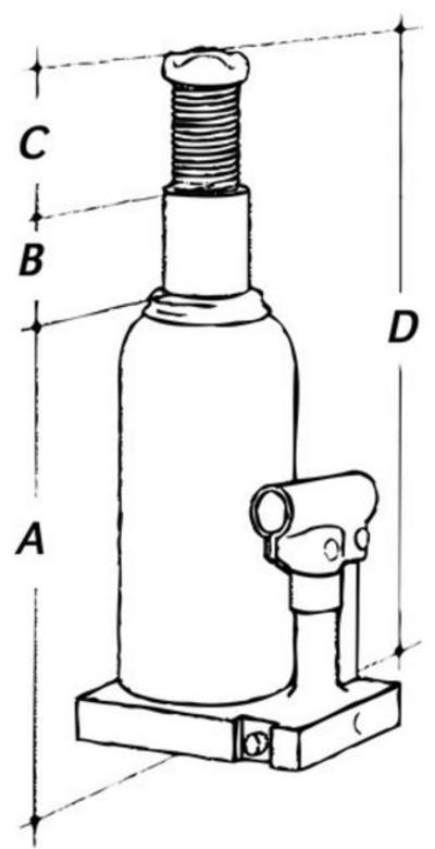 Paineilma-/käsinostin 20 t, Mega - Paineilma-/käsitunkki 20 t