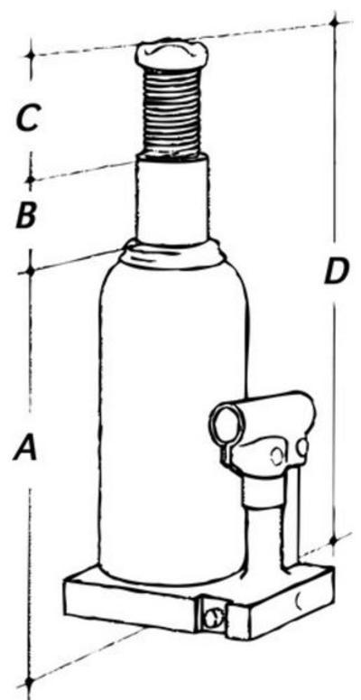Hydraulinen pullonostin 12 t, Mega - Pullotunkki 12 t