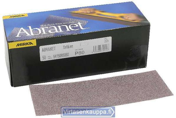 Abranet -liuska 70 x 198 mm (50 kpl), Mirka - Karkeus 80