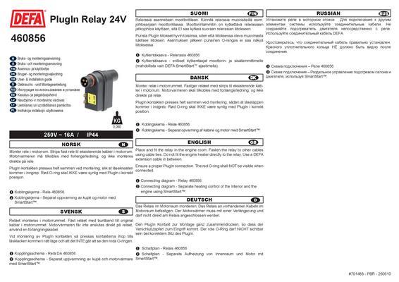 Relekappale PlugIn 24 V, Defa - Relekappale PlugIn 24 V