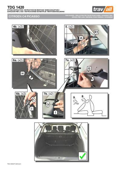 Koiraverkko autoon - Citroen C4 Picasso (2013->), Travall - Koiraverkko autoon - Citroen C4 Picasso