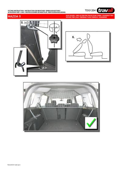 Koiraverkko autoon - Mazda 5 7-paik (2005->), Travall - Koiraverkko autoon - Mazda 5