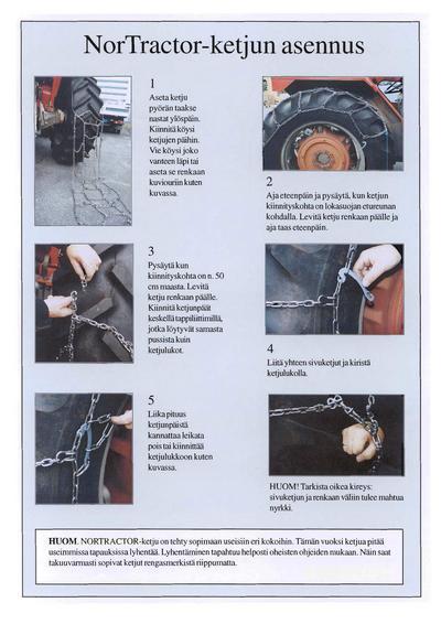 Traktorin jääketjut 13.6-36/38, Tellefsdal - Jääketjut NorTractor 13,6-36/38