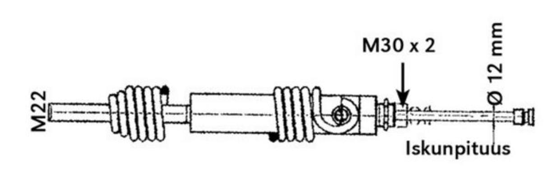 """Hydraulisylinteri (jousipalautteinen) - Hydraulisylinteri (jousipalautteinen) 4"""""""