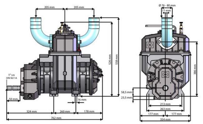 Tyhjiöpainekompressori 10100 l/min; Moro - Tyhjiöpainekompressori 10100 l/min