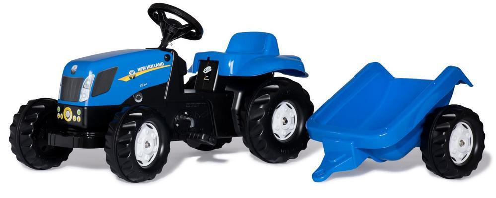 New Holland T7040 -polkutraktori perävaunulla, Rolly Toys - New Holland T7040 -polkutraktori perävaunulla