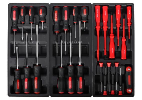 Työkaluvaunu ja 100-osainen työkalusarja, Castor - Työkaluvaunu ja 100-osainen työkalusarja