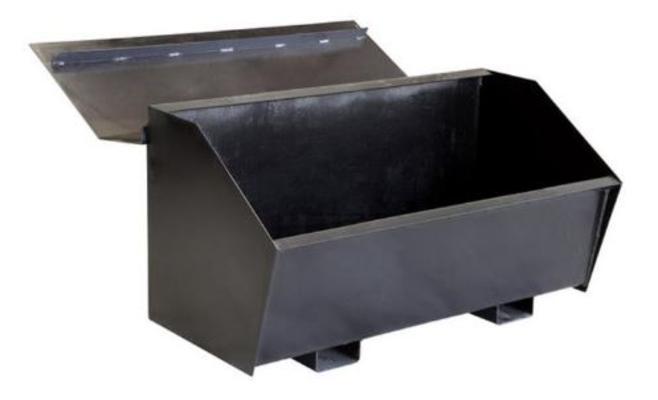 Tuhkakontti lämpölaitoksiin, Lohimet - Tuhkakontti L2000 x K1700 x S1450 mm