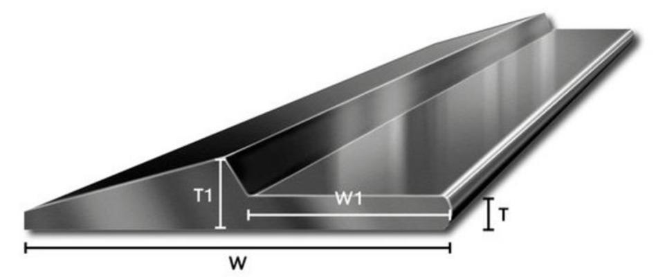 Huulilevy HB500, nuolenkärkiprofiili (16 x 151 x 3000 mm), Longlife - Huulilevy HB500, nuolenkärkiprofiili (16 x 151 x 3000 mm)