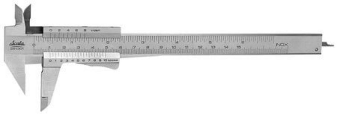 Timpurin työntömitta 150 mm, Scala - Timpurin työntömitta 150 mm